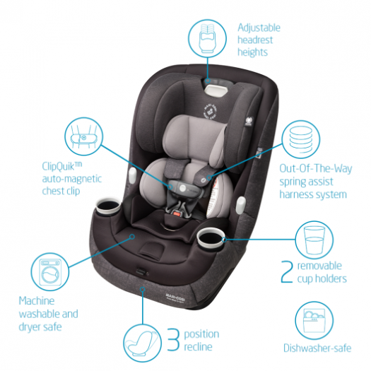 Maxi Cosi Pria Max 3 in 1 Convertible Car Seat Nomad Black