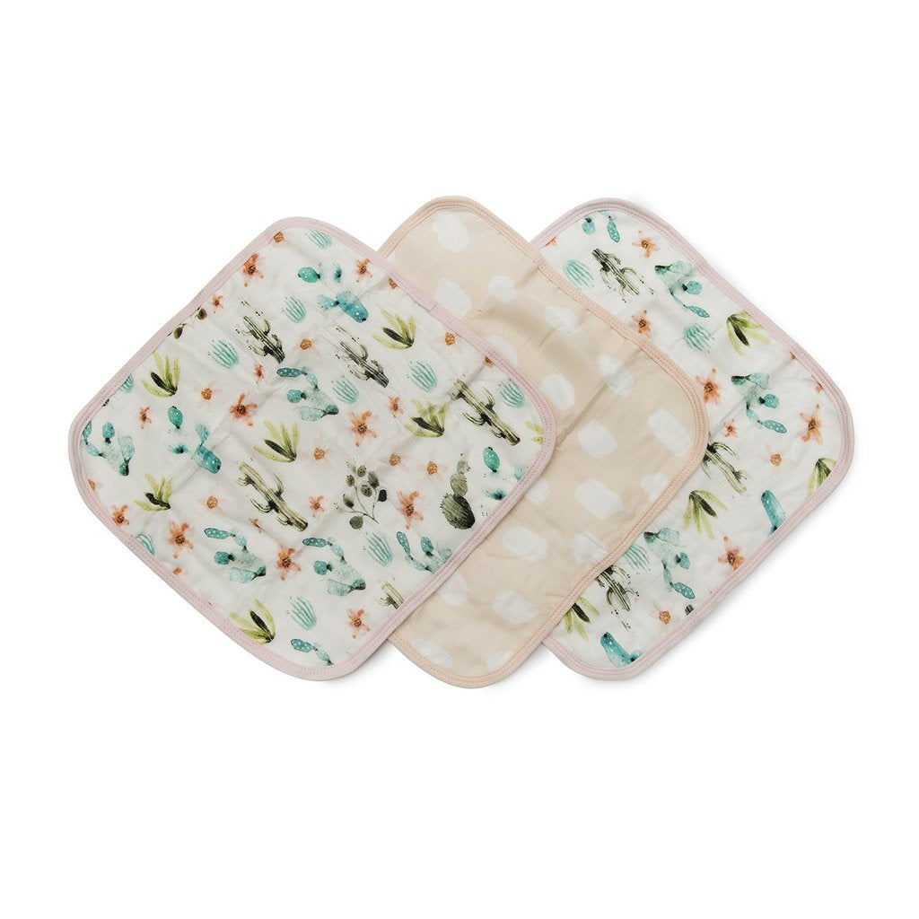 Loulou Lollipop Washcloth 3-pieces Set - Cactus Floral