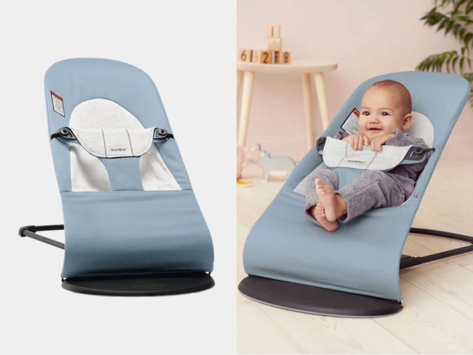 Babybjorn Bouncer Balance Soft Cotton Blue/Grey
