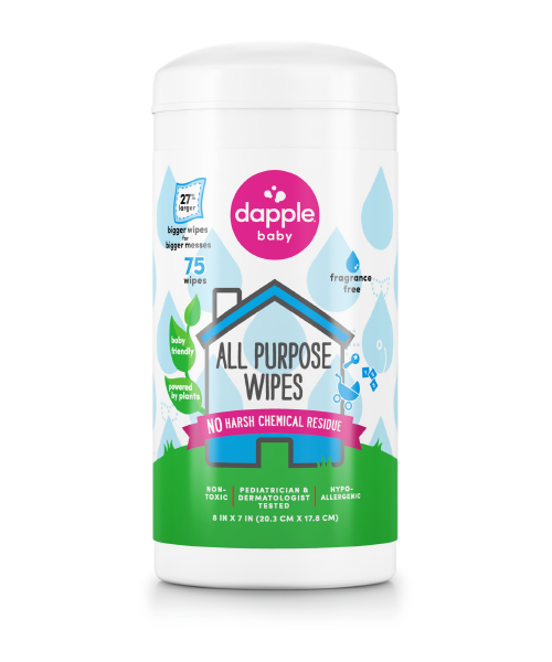 Dapple Natural Clean Everything Wipes 75ct