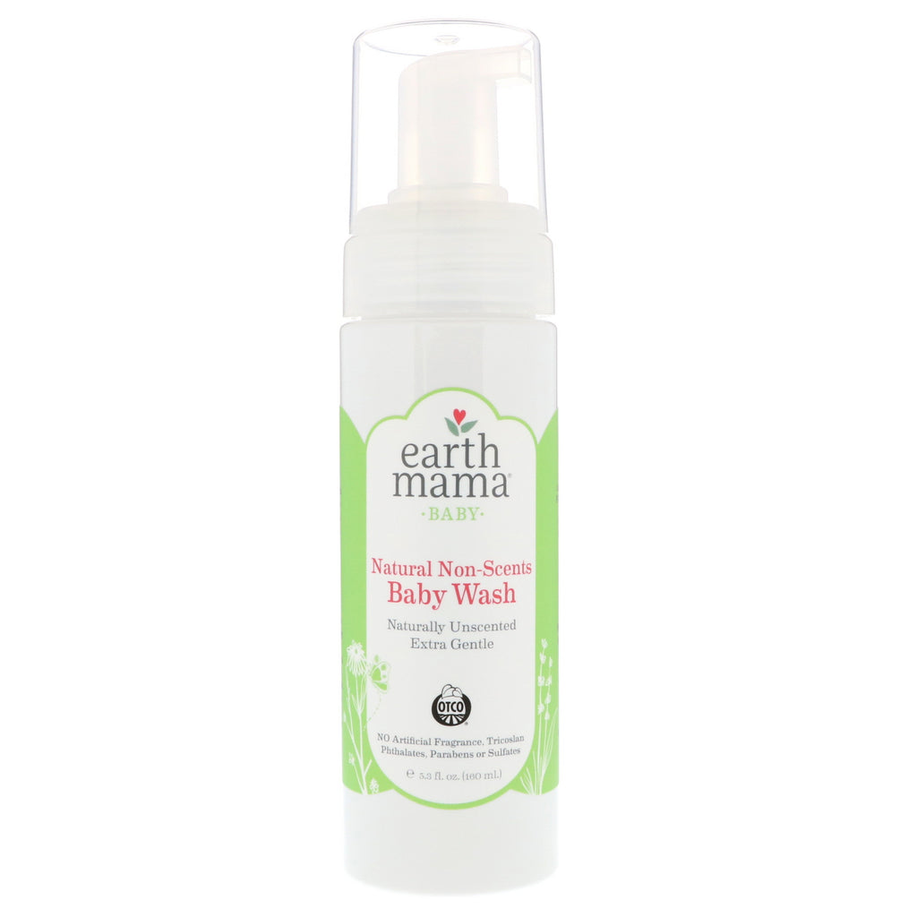 Earth Mama Natural Non-Scents Baby Wash 160ml