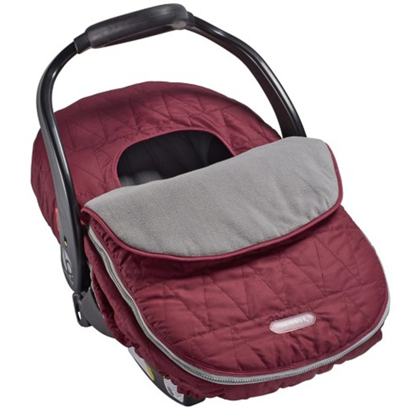 JJ Cole Car Seat Cover Wine Triangle Stitch
