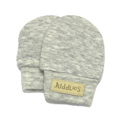 Juddlies Scratch Mitts Pale Grey Fleck - CanaBee Baby