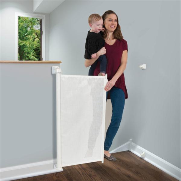 Kidco Gate G2500 Retractable Safeway White