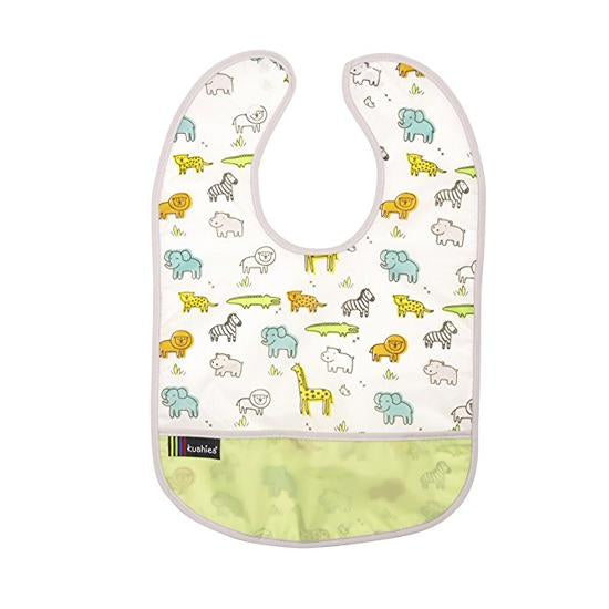 Kushies Clean Bib Safari 6-12m (B1172)