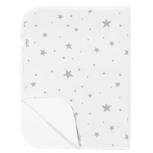 Kushies Deluxe Change Pad Grey Scribble Stars P210-607