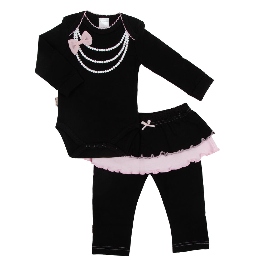 Blue Banana L1813 Mini LS B/S& Legging Set Black