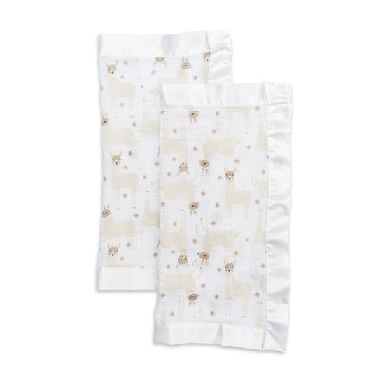 Lulujo Security Blanket Muslin Cotton Modern Llama