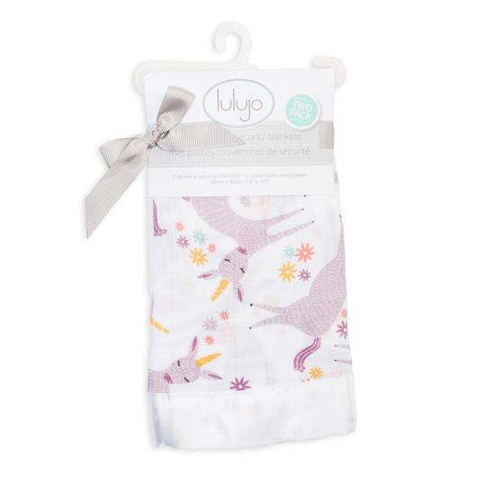 Lulujo Security Blanket Muslin Cotton Modern Unicorn
