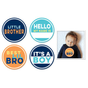 Sticky Bellies Milestone Stickers - Little Brother
