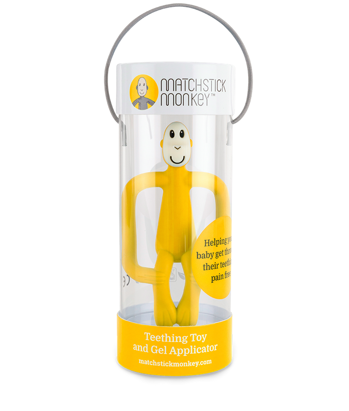 color yellow Teething toy MATCHSTICK MONKEY MM-T-006