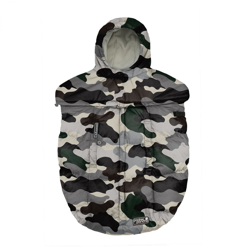 7 AM Enfant Pookie Poncho Camo Forest
