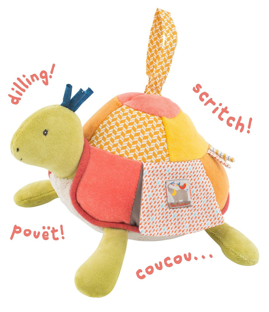 Moulin Roty Les Papoum Baby Activity Toy Turtle