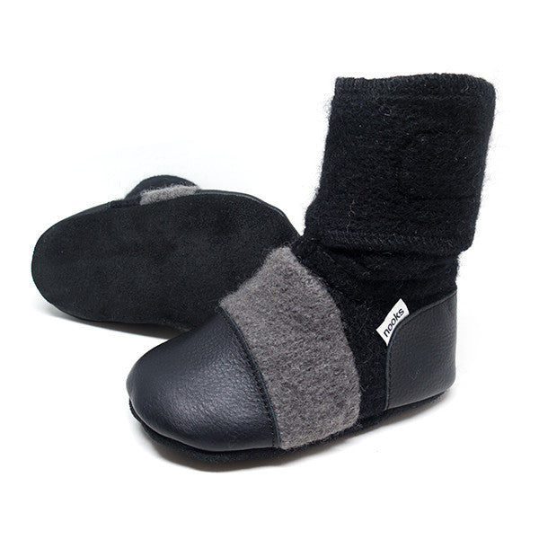 Nooks Felted Wool Booties Eclipse