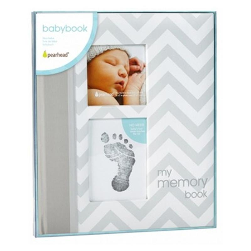 Pear Head  Babybooks Chevron Grey - CanaBee Baby