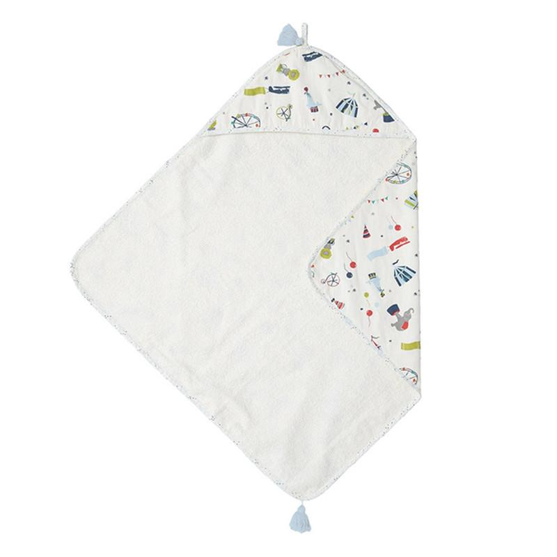 Petit Pehr Hooded Towel-Big Top - CanaBee Baby