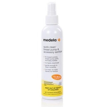 Medela Quick Clean Breast Pump & Accessory Sanitizer Spray 8oz