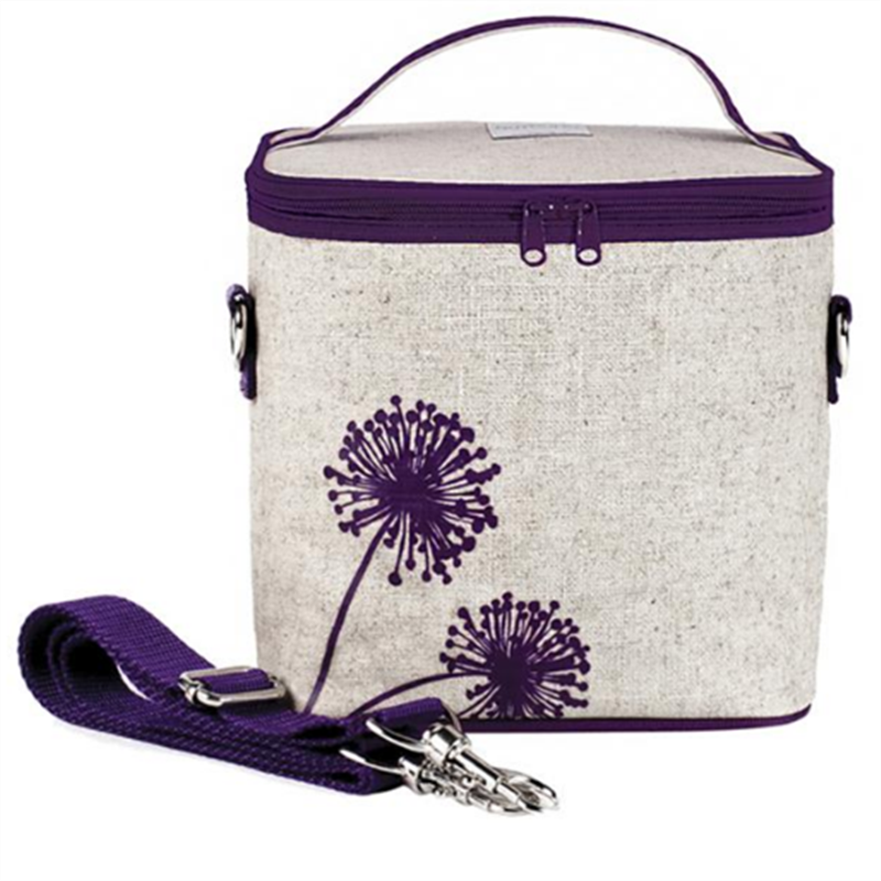 So Young Cooler Bag Uncoated Large Purple Dandelion - CanaBee Baby