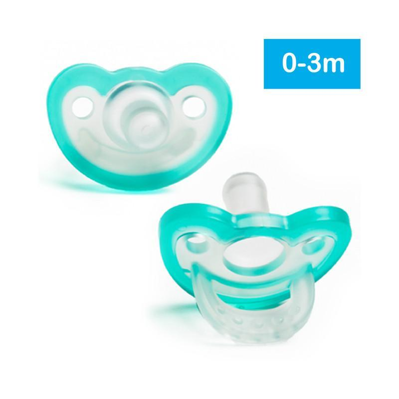 Razbaby JollyPop Pacifier 2pk - Teal/Teal 0-3m - CanaBee Baby