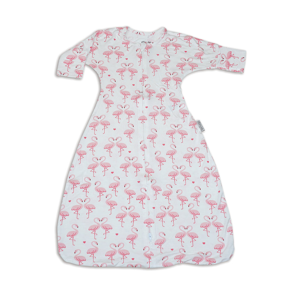 SilkBerry Swaddle Transition Flamingo Love 0.5Tog
