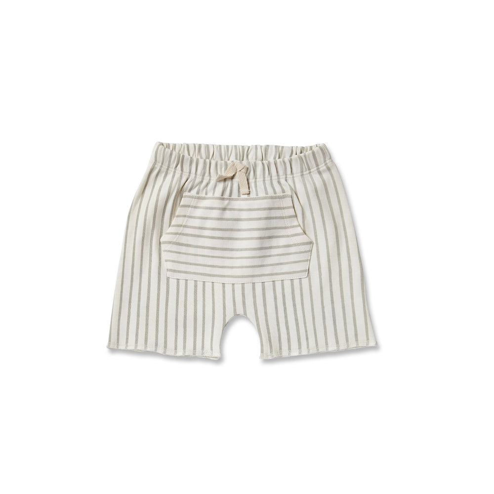 Pehr Stripes Away Pocket Shorts Pebble