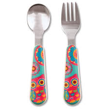 Stephen Joseph Silverware Set Owl F14