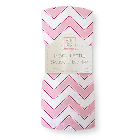 Marquisette Swaddle Blanket  Chevron-Very Berry