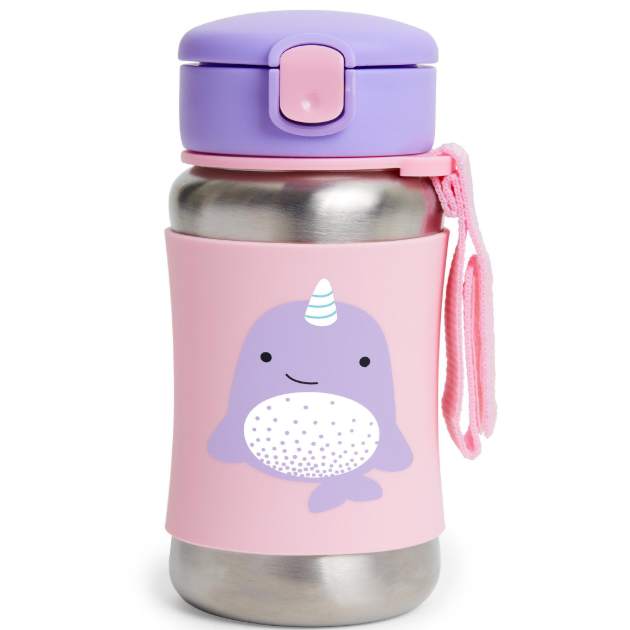 Skip Hop Zoo Stainless Straw Bottle Narwhal