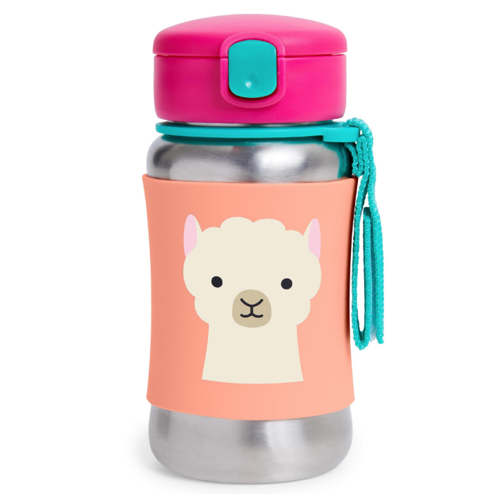 Skip Hop Zoo Stainless Straw Bottle Llama
