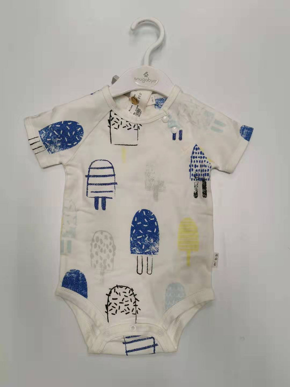 Miles Baby Boy Ice Cream Onesie