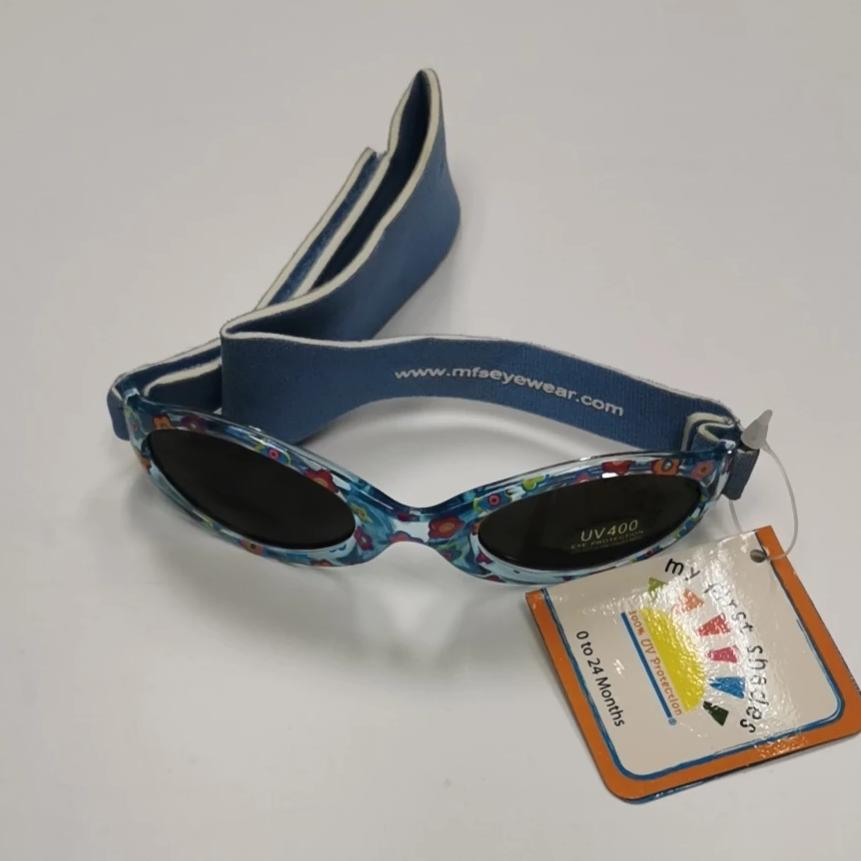Real Kids Shades My First Shades Children's Sunglasses - Blue Flower 0-24m