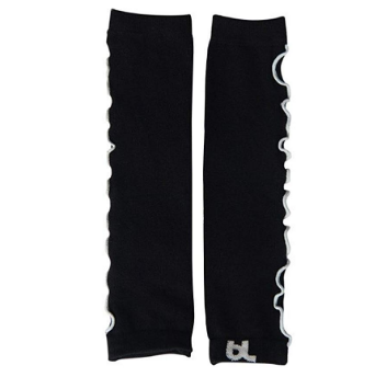 Baby Leggings Black Ruffles