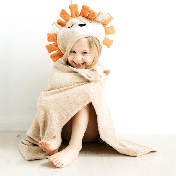 Natemia Bamboo Hooded Towel Lion