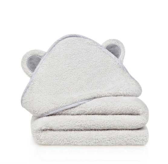 Natemia Bamboo Hooded Towel Grey