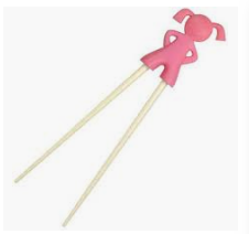 Fred & Friends Chopstick Kids - Girl Pink
