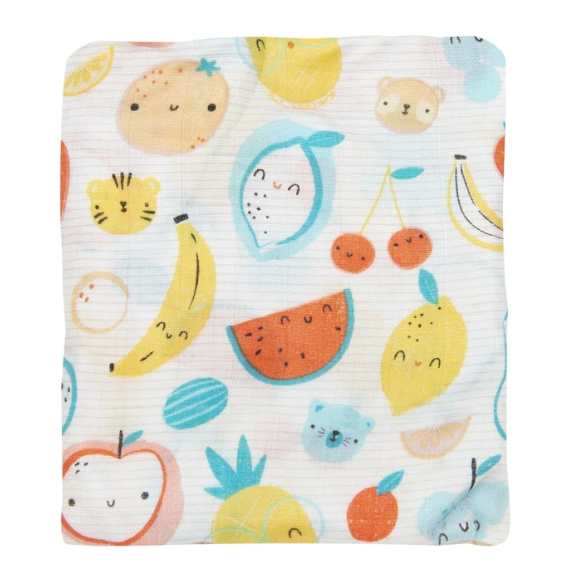 Loulou Lollipop Fitted Crib Sheet Cutie Fruits