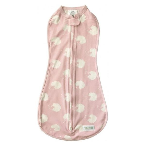 Woombie Original Baby Swaddle - Pink Hedgehog