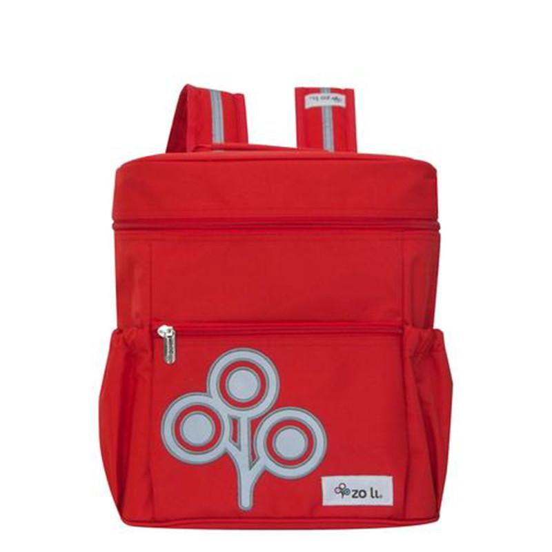 Zoli Mini Stash Bucket-Style Rucksack Red - CanaBee Baby