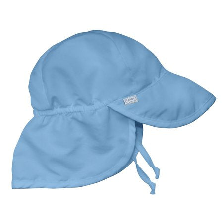 I Play Sun Flap Hat - Blue