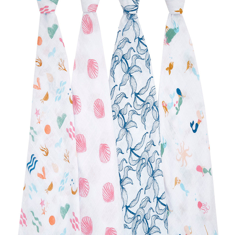 Aden + Anais Classic Swaddle 4pk Salty Kisses