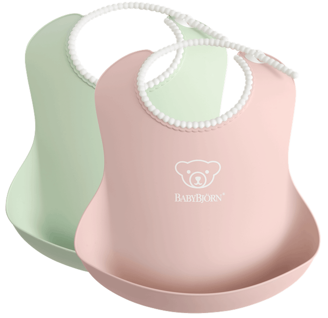 Baby Bjorn Baby Bib Powder Green/ Powder Pink 2pk 046343US