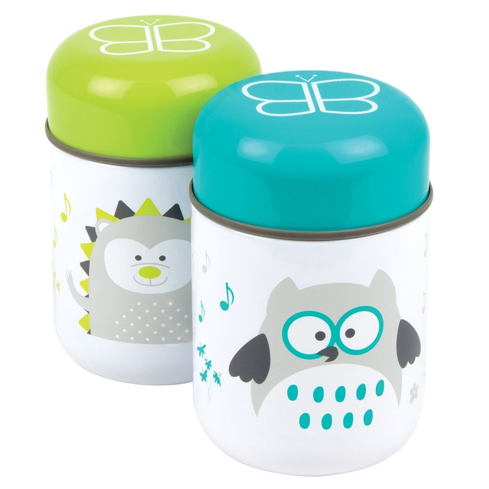 Bbluv Thermal Food Container with Spoon Aqua 10oz