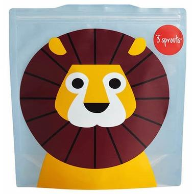 3 Sprouts Reusable Sandwich Bag Lion