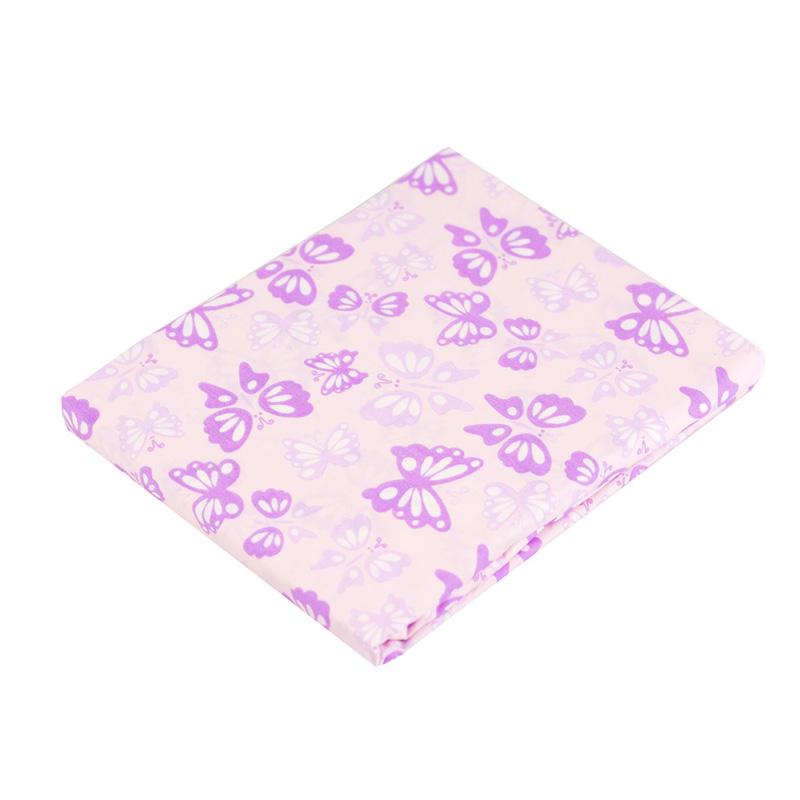 Kushies Ben & Noa Crib Sheet - Butterfly Pink