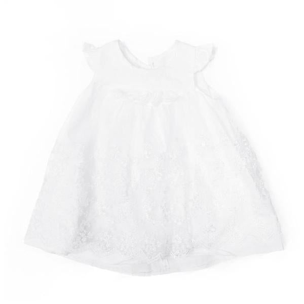 Blink Blank Embroidered Vine Little Dress Ivory 6-9m