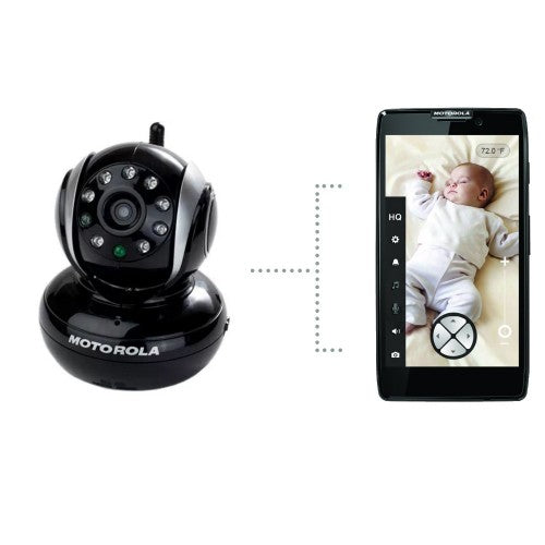 Motorola Wi-Fi Video Baby Monitor Camera Black