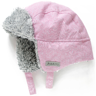 Juddlies Winter Hats Salt&Pepper Pink