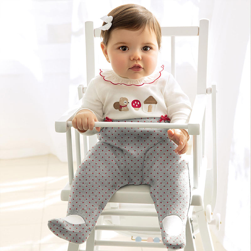 Mayoral Combined Onesie - Grey 2755