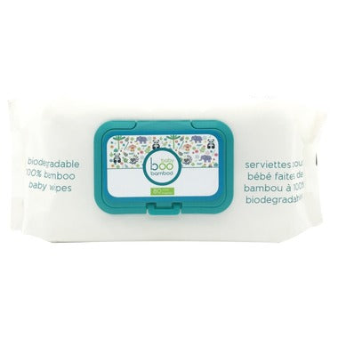 Boo Bamboo Baby Biodegradable Bamboo Wipes