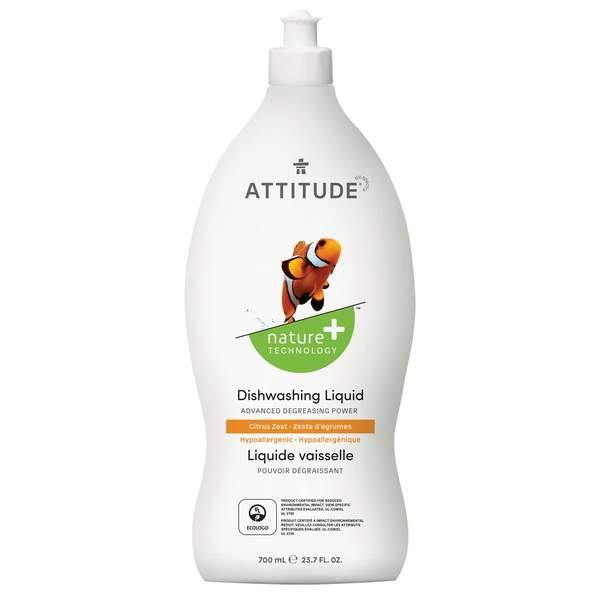 Attitude Dishwashing Liquid Citrus Zest 700ml 137245
